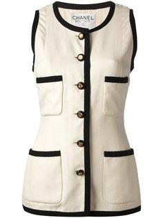 пиджак без рукавов Chanel Vintage