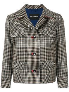 укороченный твидовый пиджак  Etro
