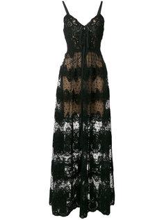 полупрозрачное кружевное платье  Elie Saab