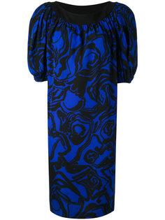 платье с абстрактным принтом  Yves Saint Laurent Vintage