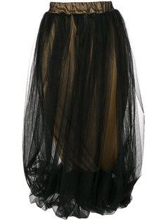 draped tulle overlay skirt Nostra Santissima