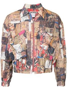 crumpled print bomber jacket Issey Miyake Vintage