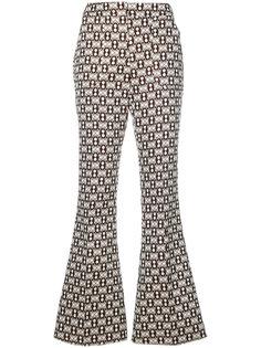 расклешенные брюки с вышивкой Giamba
