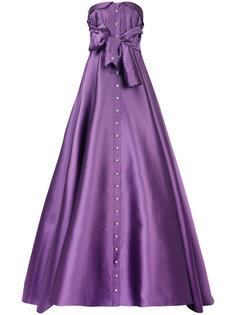платье на пуговицах без бретелек  Alexis Mabille