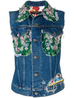 жилет с цветочным узором  Dolce & Gabbana