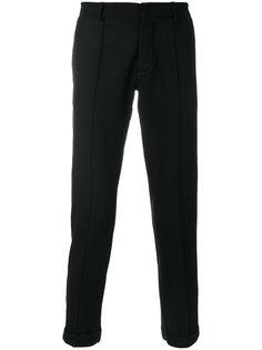брюки строгого кроя с полоской с логотипом сбоку Gcds