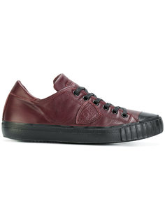 кроссовки с прошитой заплаткой Philippe Model