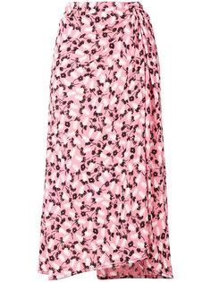 юбка с запахом и принтом Plume Marni