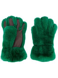 перчатки из кроличьего меха Marni