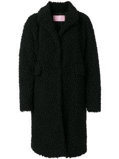 однобортное пальто Giamba