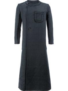 long asymmetric front coat Yang Li