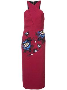 платье с цветочной вышивкой Roland Mouret