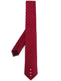 галстук с вышивкой звезд Givenchy