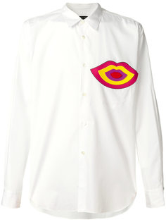 рубашка с аппликацией в форме губ Comme Des Garçons Homme Plus