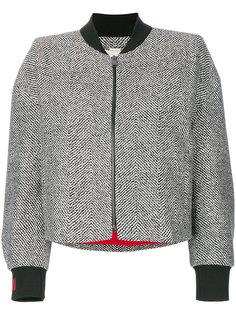 твидовая куртка-бомбер с бисерной отделкой  Fendi