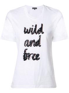 футболка с принтом wild and free Markus Lupfer