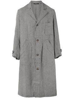 пальто с узором в ломаную клетку Ermanno Gallamini