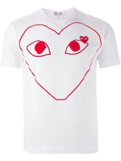 футболка с принтом логотипа Play Comme Des Garçons Play