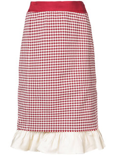 gingham check ruffle hem skirt Brock Collection