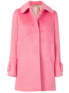однобортное фактурное пальто  Nº21