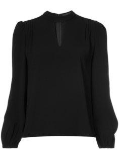 v slit blouse Co
