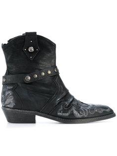 embroidered cowboy boots Fausto Zenga