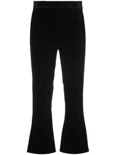 cropped velvet trousers Frame Denim