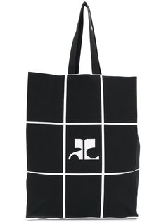 сумка-тоут с принтом сетки Courrèges