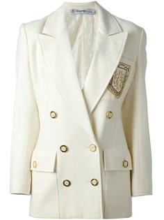 двубортный пиджак с эмблемой Jean Louis Scherrer Vintage