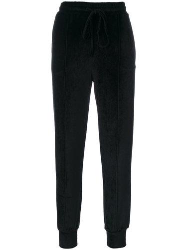 skinny velvet track pants Andrea Ya'aqov