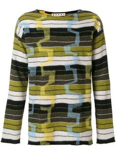 свитер с полосатым узором Marni