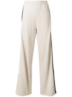 широкие брюки с лампасами Nude