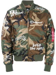 camouflage CND bomber jacket  Alpha Industries