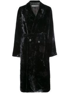 velvet double breasted coat Raquel Allegra