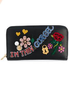 кошелек на круговой молнии с принтом Dolce & Gabbana