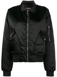 Fame print satin bomber jacket Filles A Papa