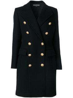 двубортное пальто-блейзер Balmain