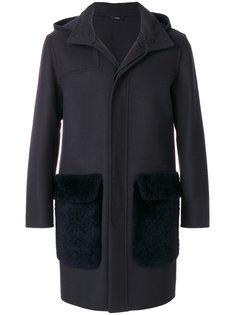 пальто с капюшоном Fendi