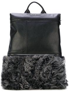 рюкзак с меховой панелью Emporio Armani