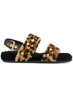 меховые сандалии Leo Car Shoe
