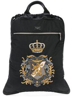 рюкзак на шнурке с заплаткой с гербом Dolce & Gabbana