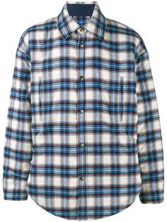 клетчатая рубашка-куртка Balenciaga