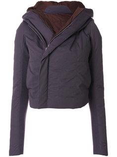 байкерское пальто с капюшоном Rick Owens
