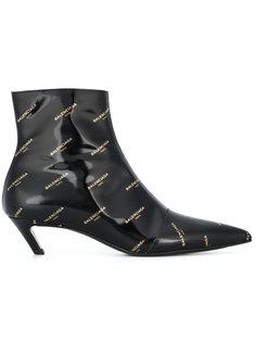 ботинки с логотипом Slash Balenciaga