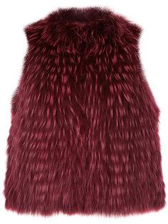 укороченная куртка без рукавов  Yves Salomon
