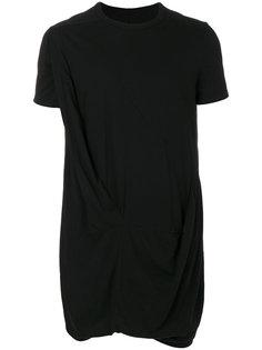 футболка асимметричного кроя Rick Owens DRKSHDW