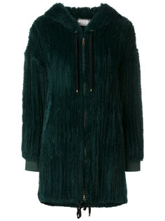 zipped slouched coat Meteo By Yves Salomon
