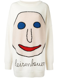 свитер с лицом интарсия Christopher Kane