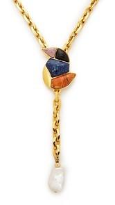 Lizzie Fortunato Songbird Chain Lariat Necklace