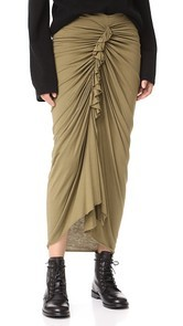 Rick Owens Lilies Gathered Skirt